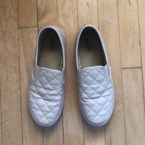 Size 10, pink slip on sneakers